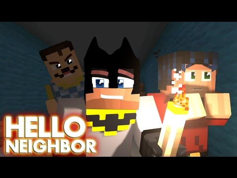 Minecraft Hello Neighbor -  Exploring the house in the Dark (minecraft Roleplay)