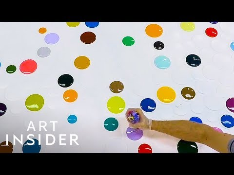 Blob Artist Fills Entire Canvas With Colorful Dots And Blobs