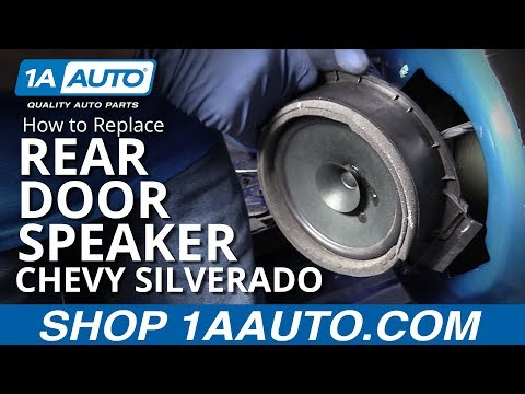 How to Replace Rear Door Speaker 14-19 Chevy Silverado