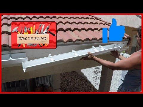 Como Instalar Canaletas de vinil o pvc para aguas lluvias - How to Install Gutters