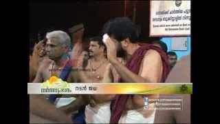 "Actor Jayaram performing ""Panchari Melam"" in Chottanikkara Temple"