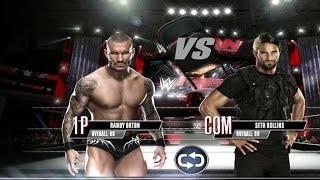WWE 2K Mobile - Randy Orton vs Seth Rollins - NO DQ Match [ HD ]