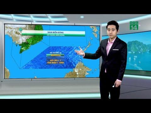 Thời tiết biển 18/01/2019: Khu vực nam biển Đông có gió cấp 6 giật cấp 7, biển động mạnh | VTC14