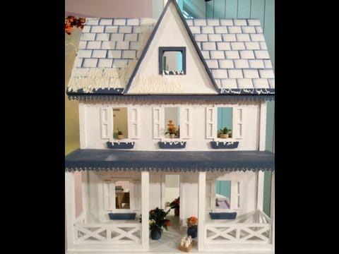 Como hacer una casa de mu ecas con t cnicas en papel youtube - Como construir una casa ...