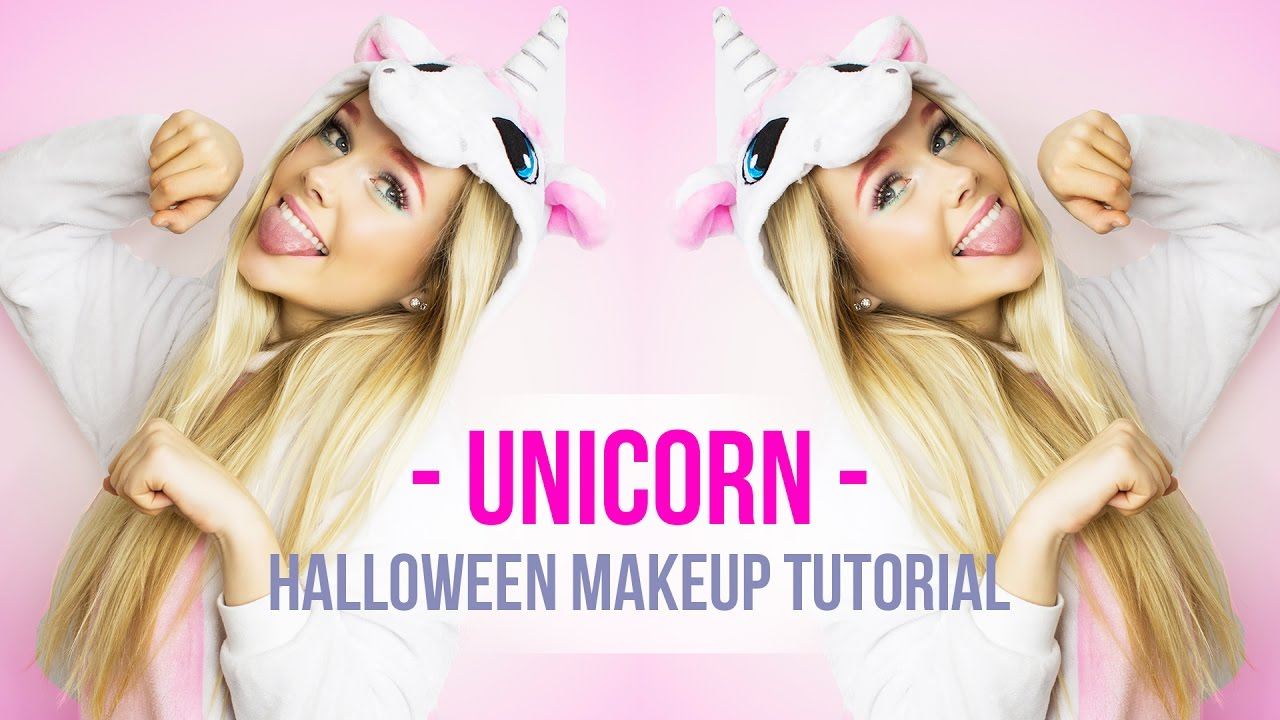 EASY UNICORN Halloween makeup tutorial I +dresslily Halloween ...