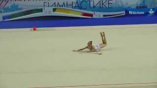 Полякова Ксения,мяч. Первенство России по гимнастике г.Казань 2014