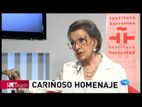Raphael y homenaje a Amparo Rivelles en Cervantes Instituto. 2011