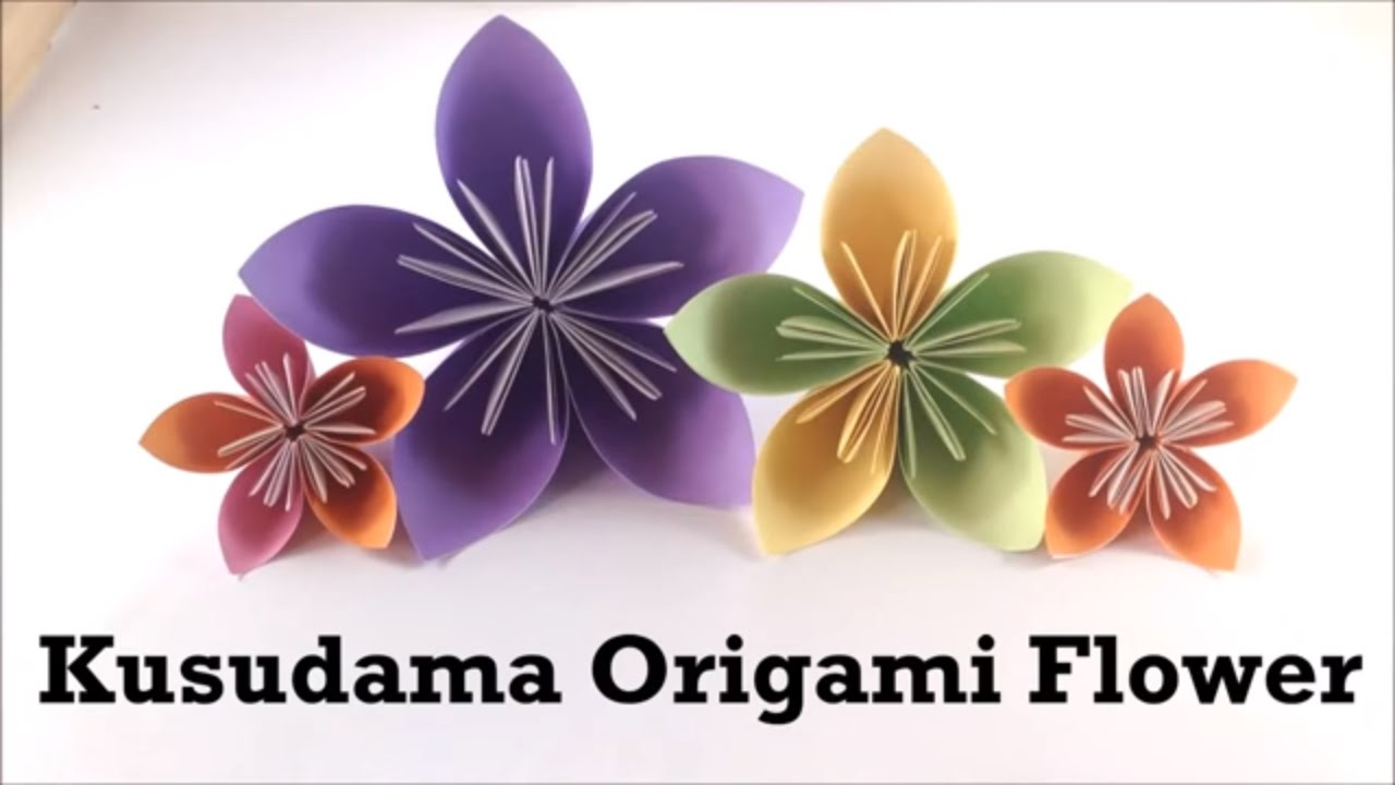 How to make easy origami flower tutorial kusudama flower for how to make easy origami flower tutorial kusudama flower for beginners paper origami diy youtube mightylinksfo