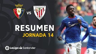 Resumen de CA Osasuna vs Athletic Club (1-2)