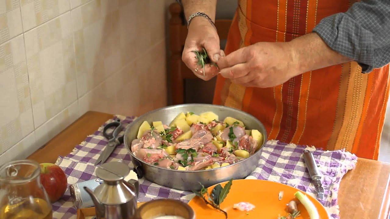 08 coniglio al forno con patate ricetta passo per passo for Per cucinare 94