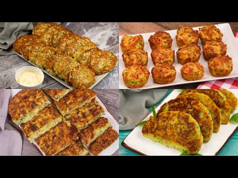 4 Easy and tasty ideas with zucchini