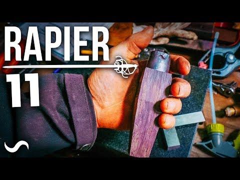 MAKING A BASKET HILT RAPIER SWORD!!!  PART 11