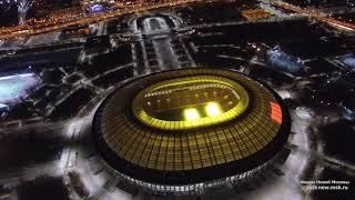 Ночная Москва: Воробьевы горы и стадион