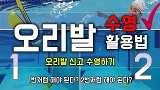 오리발 신고 수영해보기 :  Fin Swimming #…