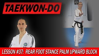 Rear Foot Stance Upward Block - Taekwon-Do Lesson #37