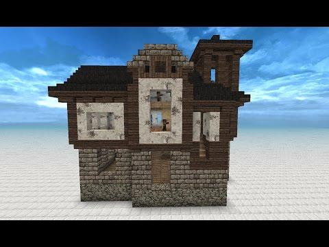 Minecraft mittelalter haus mit redstonedusche 029 goti for Kleines minecraft haus