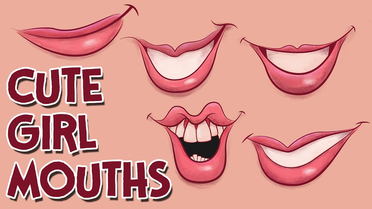 How To Draw Cute Girl Cartoon Mouths Youtube