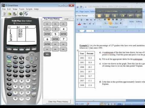 Ch 2 - Part 1 of 4 - Math 131 TI-83/84