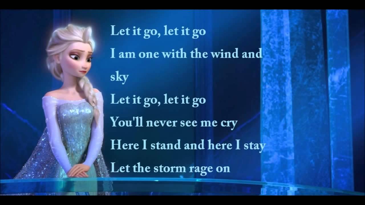 Frozen Let It Go Idina Menzel Full Lyric Video Youtube