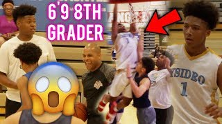 #1 8th Grader Mikey Williams DOMINATES HS PLAYERS! POSTER DUNK? 6'9 8th Grader JAH GETS HEATED!