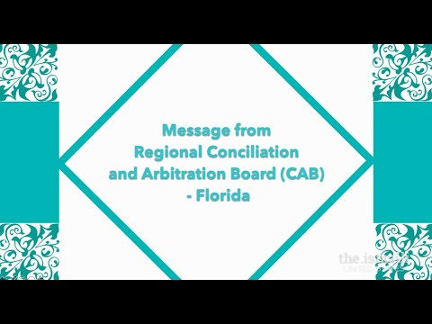 Message from Conciliation and Arbitration Board for Florida