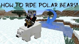 How to Ride Polar Bears! (Minecraft 1.10)