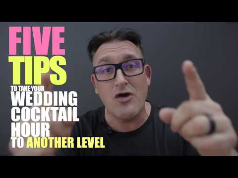 5 Tips to Have a Super Cool Cocktail Hour - Wedding Planning Ideas - SCE Event Group - Jason Jani