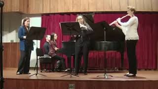 Suite for Flute, Oboe, Clarinet and Piano by Johann Amberg