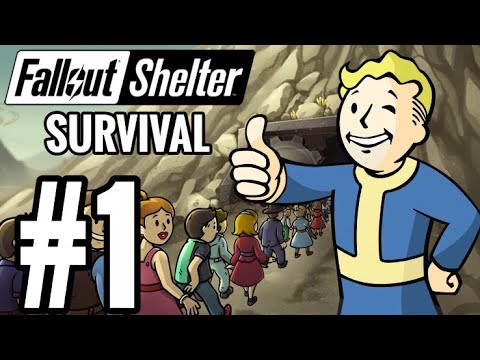 Fallout Shelter Survival Mode Walkthrough Part 1 - A NEW VAULT! (Let's Play Commentary)
