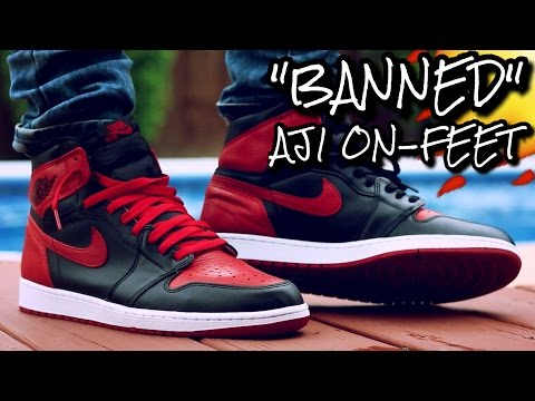 """BRED/BANNED"" AIR JORDAN 1 ON-FEET REVIEW"