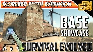 ARK SCORCHED EARTH BASE SHOWCASE - BASE DESIGN IDEAS!!