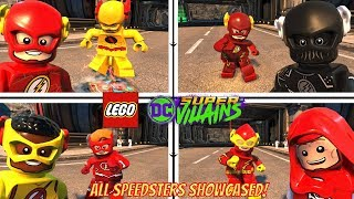 LEGO DC Super Villains All Speedsters Unlocked! Flash, Zoom, Johnny Quick, Wally West, Kid Flash!