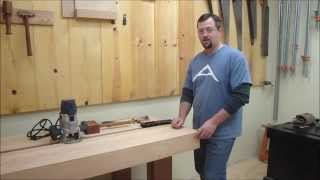 Split Top Roubo Part 5 Episode 30 Veritas Inset Vise Install and Dog Hole Install
