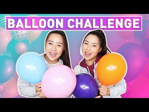 Balloon Challenge! | The Caleon Twins