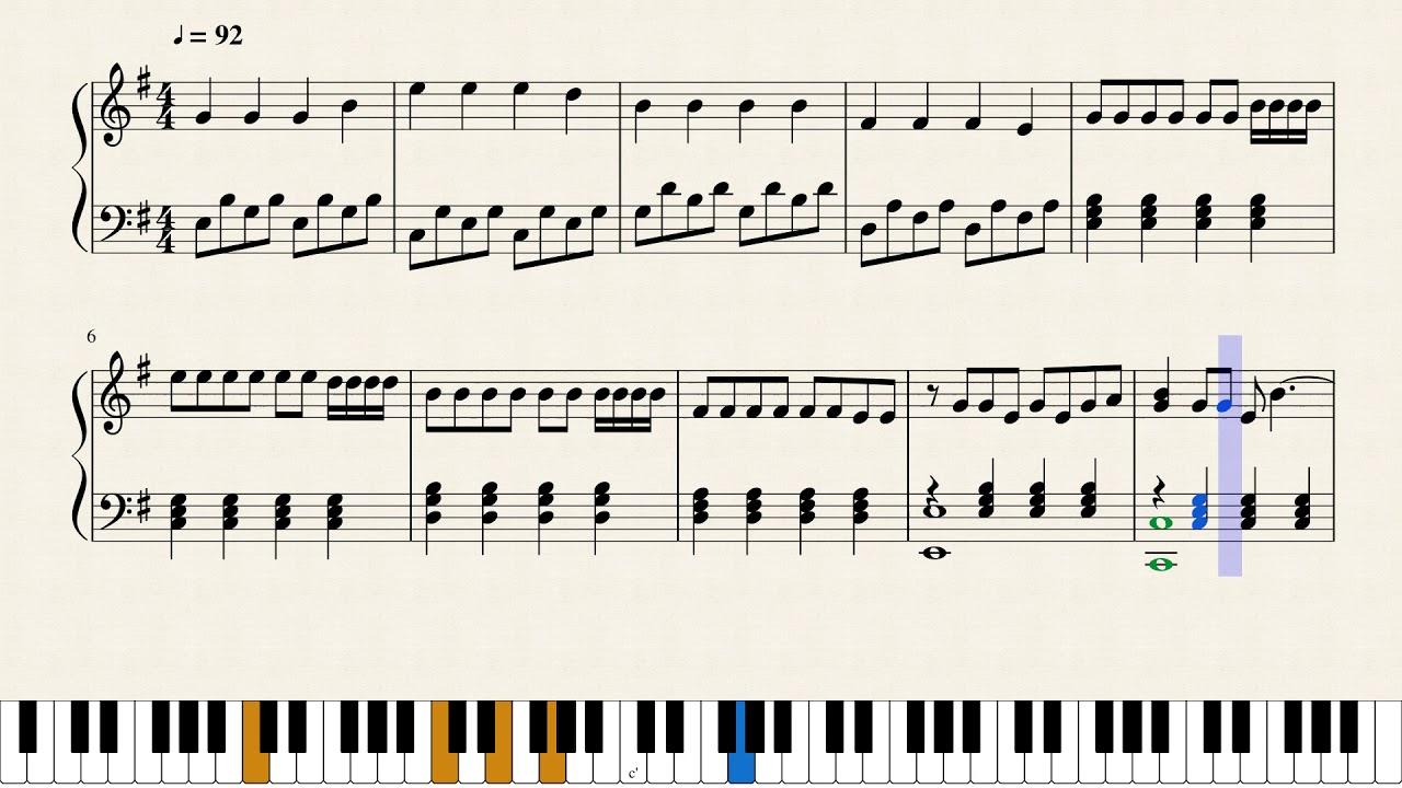 Faded - Alan Walker in G Major + Free sheet music in description