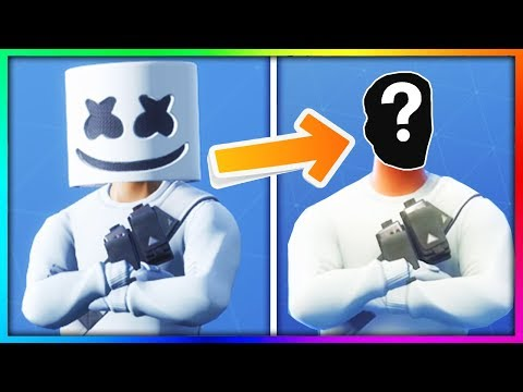 15 Fortnite MASKED Skins FACE REVEALED! (Marshmello) thumbnail