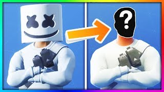 15 Fortnite MASKED Skins FACE REVEALED! (Marshmello)