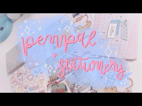 opening penpal letter + mini stationery haul 🌸✨
