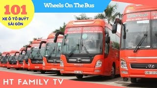 101 Xe Ô tô Buýt Sài Gòn 🚌 Wheels On The Bus ❤ Nursery Rhymes Super Simple Song ❤ Video For Kids ✔