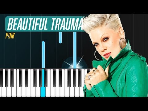 """Pink - """"Beautiful Trauma"""" Piano Tutorial - Chords - How To Play - Cover"""