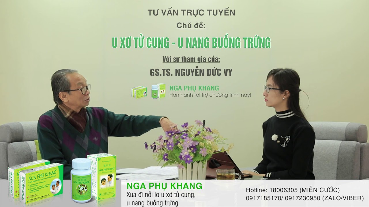 Bệnh u nang buồng trứng có nguy hiểm không? GS.TS Nguyễn Đức Vy tư vấn