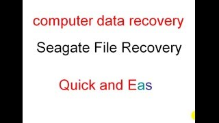computer data recovery - Seagate File Recovery - Quick and Easy