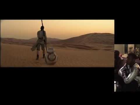 John Boyega's (Finn) Full Reaction To Star Wars: The Force Awakens Trailer (Side-By-Side)
