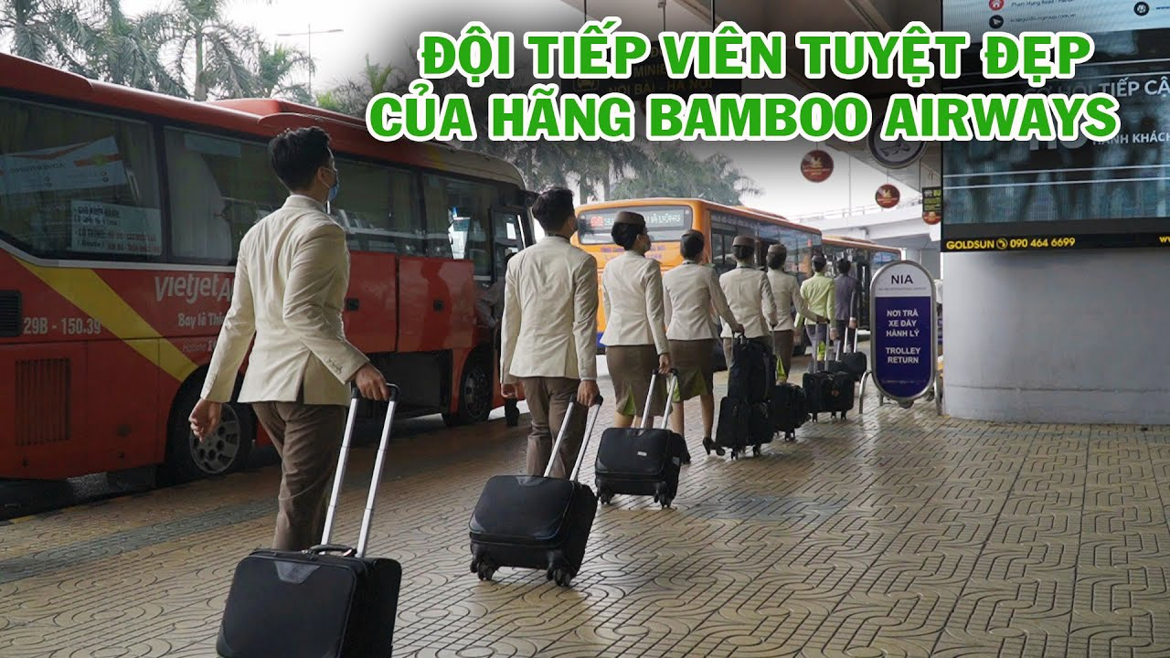 ĐỘI TIẾP VIÊN HÀNG KHÔNG BAMBOO AIRWAYS TUYỆT ĐẸP TRÊN MÁY BAY BOING 787 TỪ TPHCM ĐI HÀ NỘI