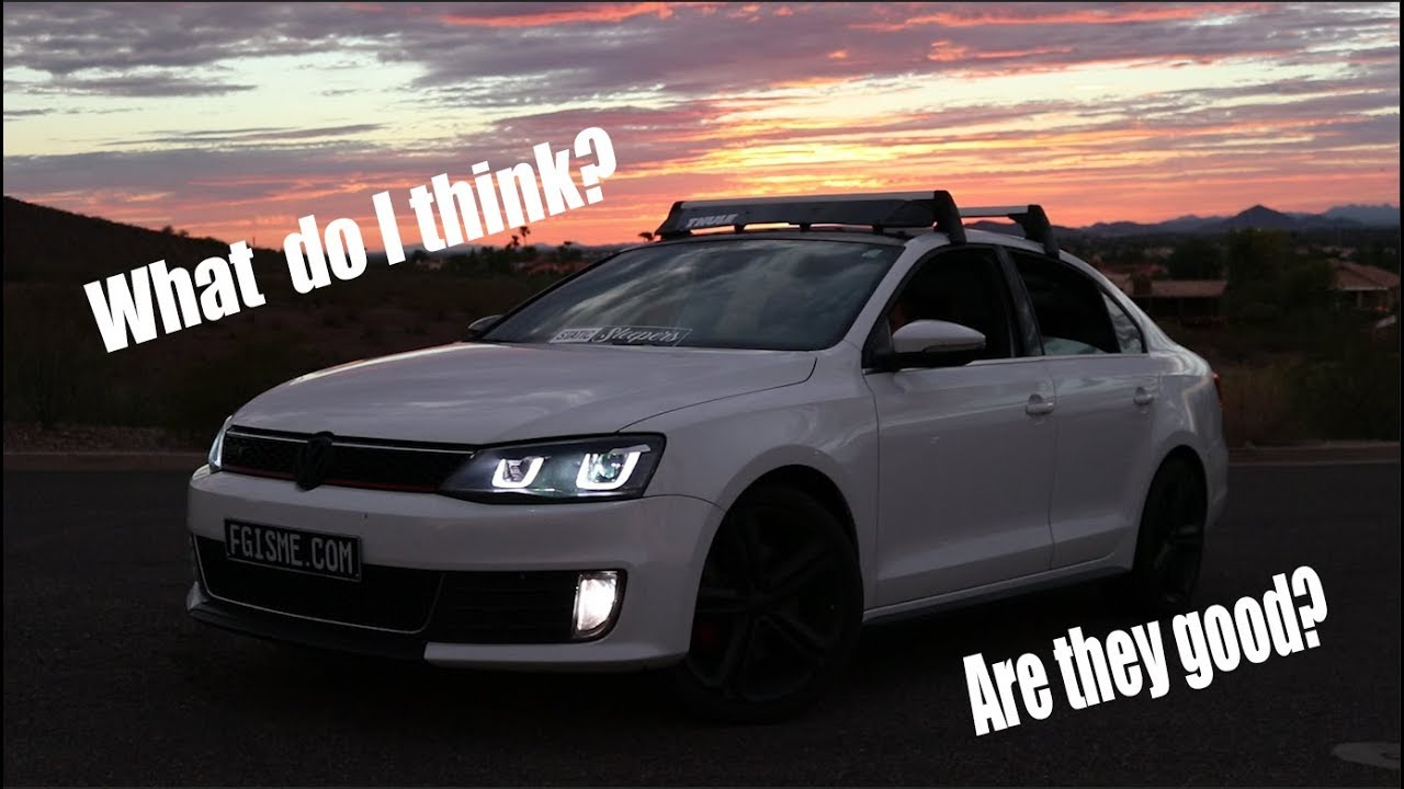What I think about the Bi-Xenon HID headlights on VW MK6 Jetta GLI - YouTube