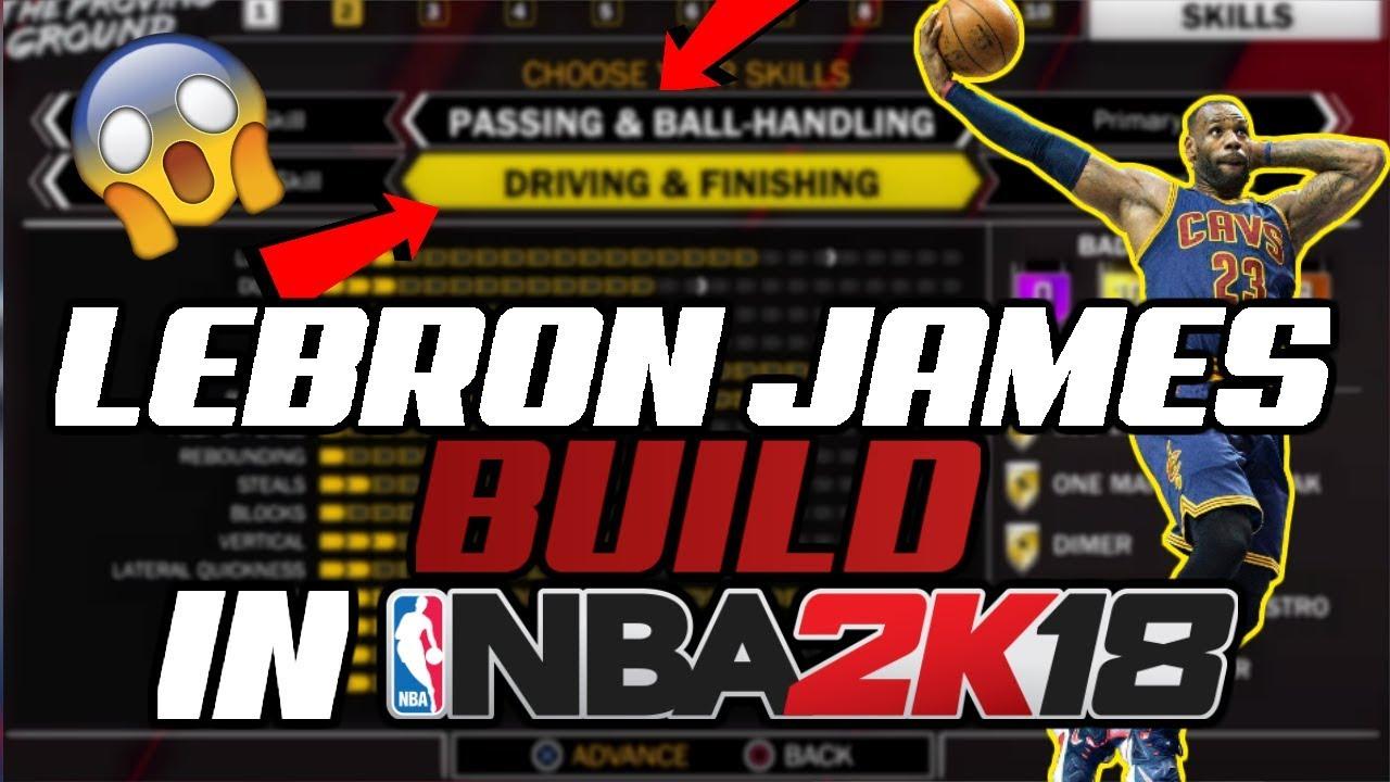 a36819d3b5b4 HOW TO MAKE LEBRON JAMES IN NBA 2K18! Nba 2k18 BEST small forward build!