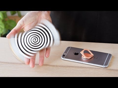 Turn your entire phone into a fidget spinner.