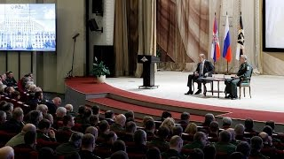 Министр иностранных дел России Сергей Лавров выступил с лекцией в ВАГШ ВС РФ