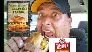 Wendy's Jalapeño Fresco Spicy Chicken Sandwich Review!