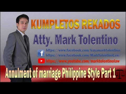 KR: Annulment Of Marriage Philippine Style Part 1